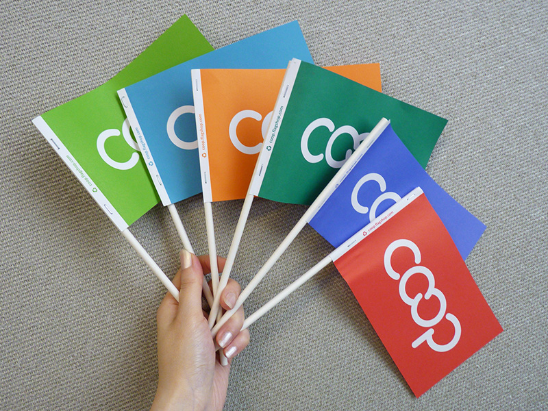 Coop Paper Flags